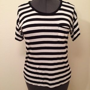 Madewell striped T-shirt with front pocket medium